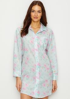 Lauren Ralph Lauren + Floral Print Woven Sleep Shirt
