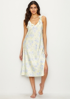 Lauren Ralph Lauren + Floral Satin Night Gown
