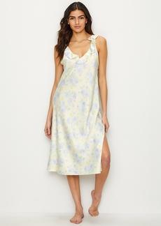 Lauren Ralph Lauren + Floral Satin Night Gown
