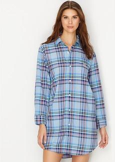 Lauren Ralph Lauren + His Shirt Plaid Woven Sleep Shirt