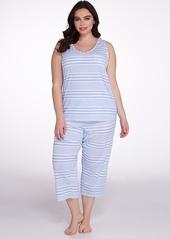 Lauren Ralph Lauren + Jersey Knit Capri Pajama Set Plus Size