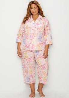 Lauren Ralph Lauren + Plus Size Classic Woven Pajama Set