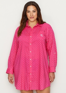 Lauren Ralph Lauren + Plus Size Classic Woven Sleep Shirt