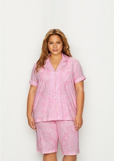 Lauren Ralph Lauren + Plus Size Cotton Bermuda Pajama Set