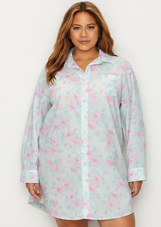 Lauren Ralph Lauren + Plus Size Floral Print Woven Sleep Shirt