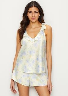 Lauren Ralph Lauren + Ruffle Satin Pajama Set
