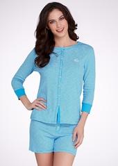 Lauren Ralph Lauren + Striped Knit Pajama Set