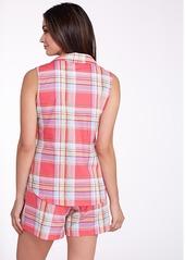 Lauren Ralph Lauren + Woven Plaid Pajama Set