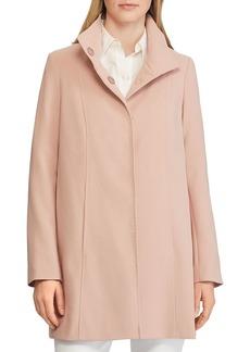 Lauren Ralph Lauren A-Line Crepe Coat