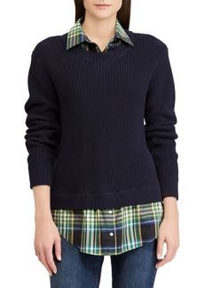 Lauren Ralph Lauren Adanna Layered Two-Fer Sweater