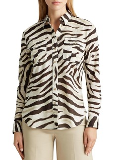 Lauren Ralph Lauren Animal Print Button-Down Shirt
