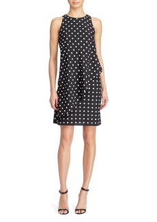 Lauren Ralph Lauren Asymmetric Overlay Polka Dot Crepe Dress - 100% Exclusive
