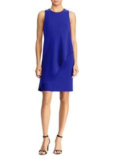 Lauren Ralph Lauren Asymmetric Overlay Shift Dress