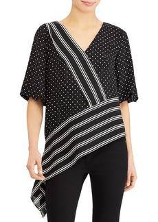 Lauren Ralph Lauren Asymmetric Pattern Block Top