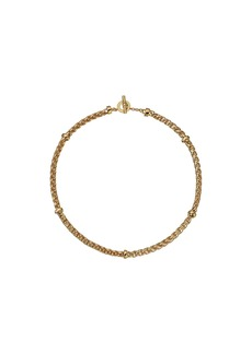 "Ralph Lauren Back to Basics II 18"" Braided Gold Chain Necklace"