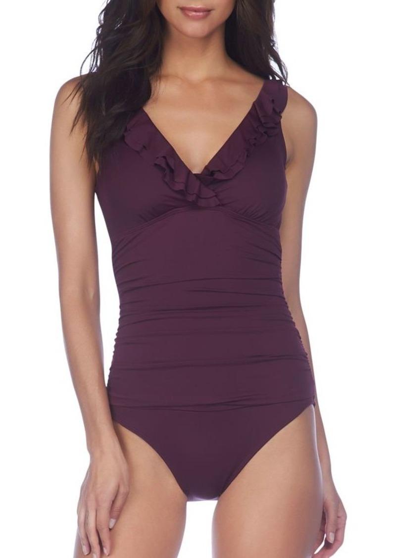 Lauren Ralph Lauren Beach Club Ruffle One-Piece Swimsuit