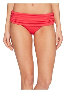 Ralph Lauren Beach Club Solids Wide Shirred Banded Hipster Bottom