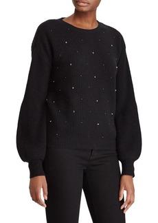 Lauren Ralph Lauren Beaded Bishop-Sleeve Sweater