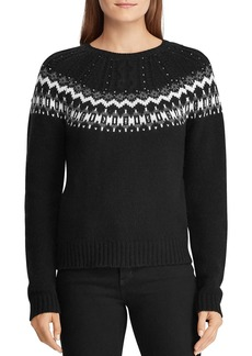 Lauren Ralph Lauren Beaded Fair Isle Sweater