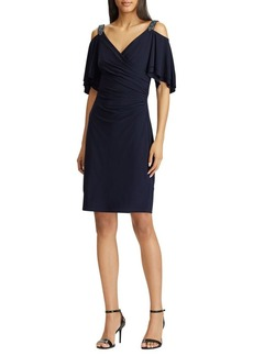 Lauren Ralph Lauren Beaded Strap Cocktail Dress
