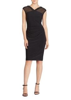 Lauren Ralph Lauren Beaded-Trim Jersey Dress
