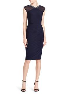 Lauren Ralph Lauren Beaded-Trim Jersey Dress
