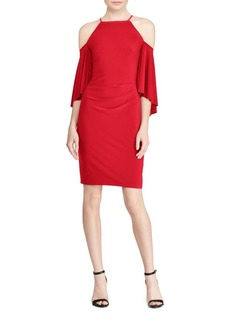 Lauren Ralph Lauren Bell-Sleeve Cold-Shoulder Jersey Dress