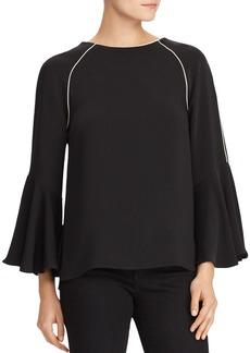 Lauren Ralph Lauren Bell Sleeve Crepe Blouse