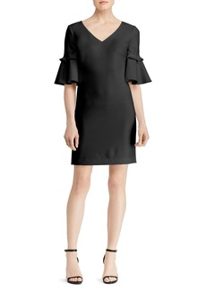 Lauren Ralph Lauren Bell-Sleeve Crepe Dress