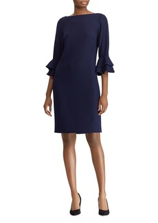 Lauren Ralph Lauren Bell Sleeve Crepe Dress