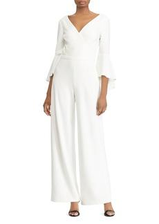 Lauren Ralph Lauren Bell-Sleeve Crepe Jumpsuit