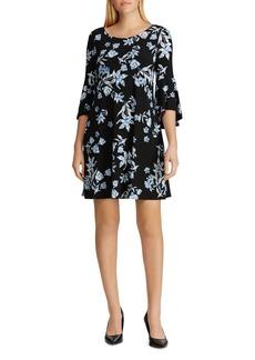 Lauren Ralph Lauren Bell-Sleeve Floral-Jersey Dress