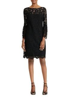 Lauren Ralph Lauren Bell-Sleeve Lace Dress