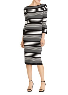 Lauren Ralph Lauren Bell Sleeve Stripe Dress