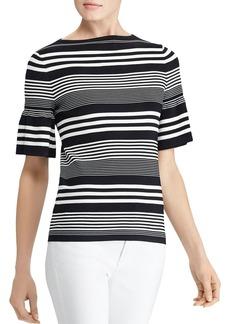 Lauren Ralph Lauren Bell Sleeve Stripe Top