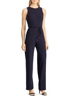 Lauren Ralph Lauren Belted Crepe Jumpsuit