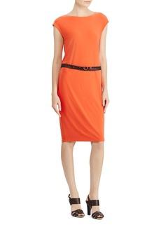 Lauren Ralph Lauren Belted Jersey Dress