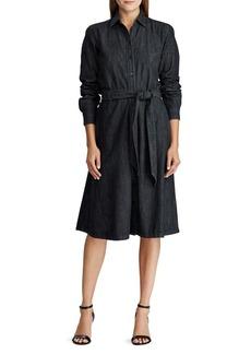 Lauren Ralph Lauren Belted Long-Sleeve Shirtdress