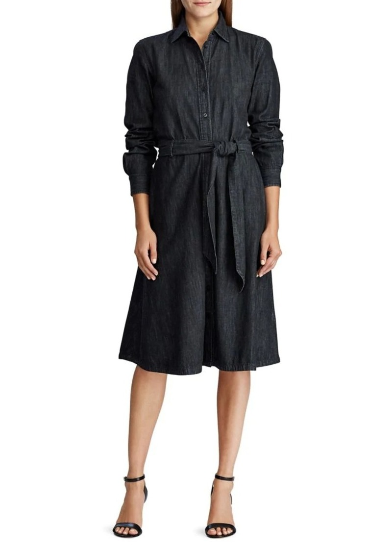 Lauren Ralph Lauren Belted Long-Sleeve Shirtdress