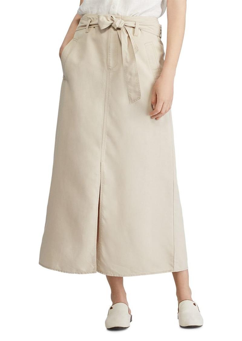 Lauren Ralph Lauren Belted Maxi Skirt