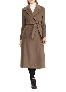 Lauren Ralph Lauren Belted Maxi Wrap Coat