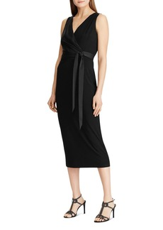 Lauren Ralph Lauren Belted Midi Dress
