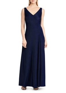 Lauren Ralph Lauren Bias Jersey Gown