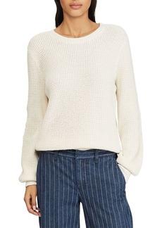 Lauren Ralph Lauren Bishop-Sleeve Cotton Sweater