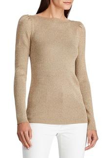 Lauren Ralph Lauren Boatneck Cotton Blend Sweater