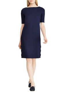Lauren Ralph Lauren Boatneck Lace-Up Dress