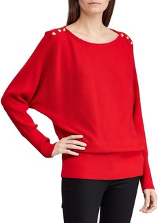 Lauren Ralph Lauren Boatneck Ribbed Top