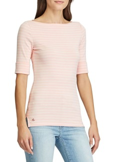 Lauren Ralph Lauren Boatneck Stretch-Cotton Top