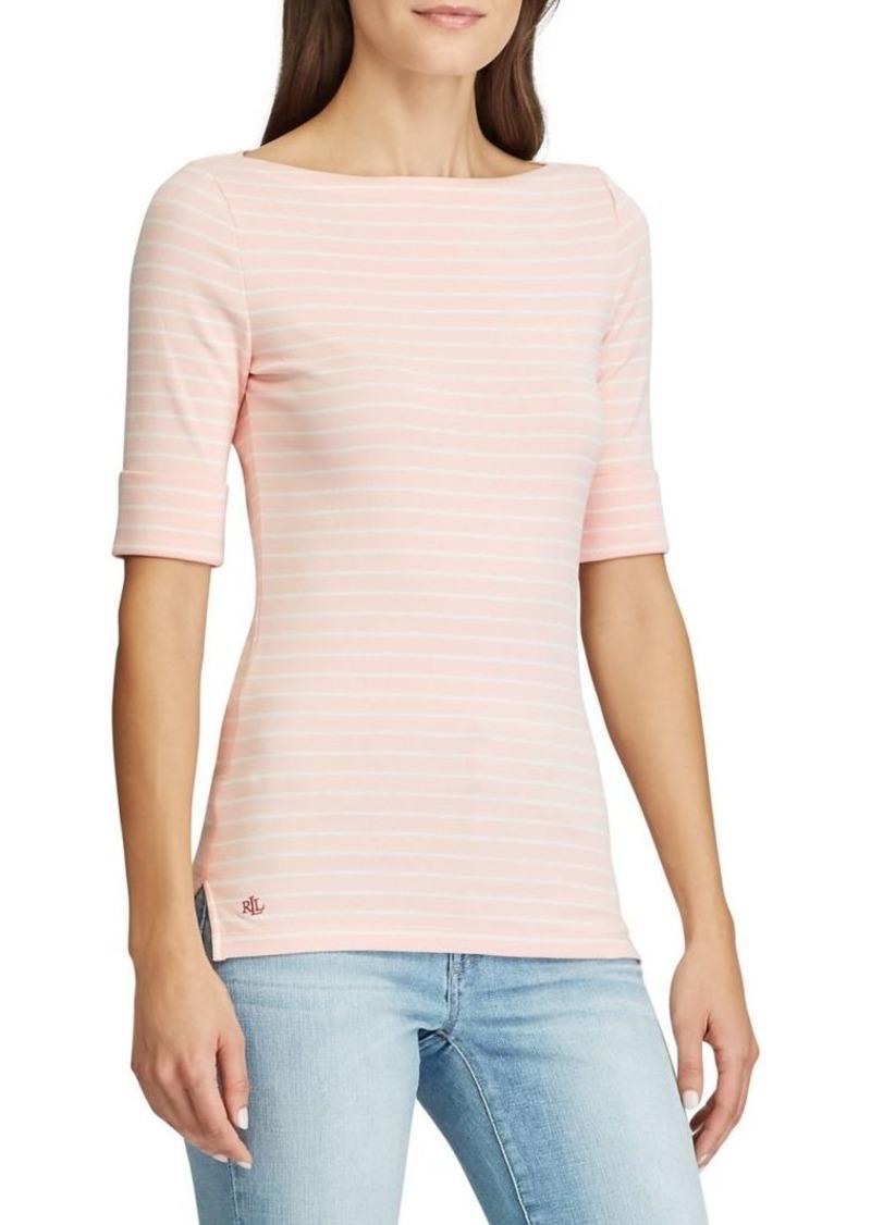 Lauren Ralph Lauren Boatneck Stretch-Cotton Top