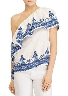 Lauren Ralph Lauren Boho One-Shoulder Top